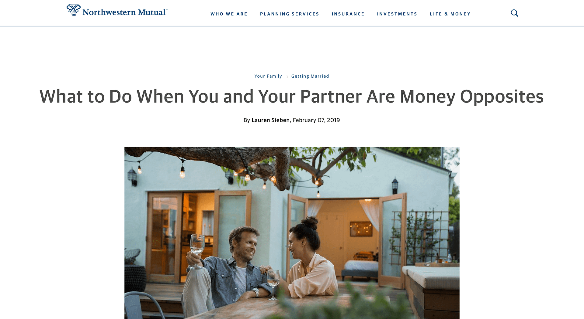 What to Do When You and Your Partner Are Money Opposites (Northwestern Mutual) | LPTG Quote