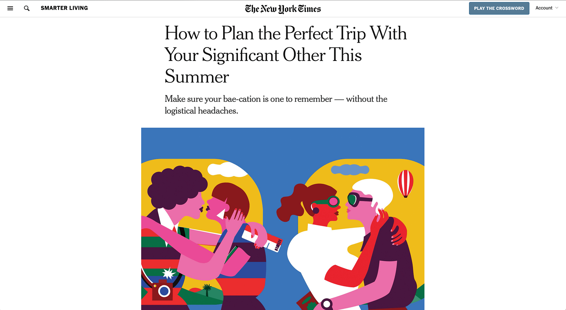 How to Plan the Perfect Trip (NY Times) | LPTG Quote